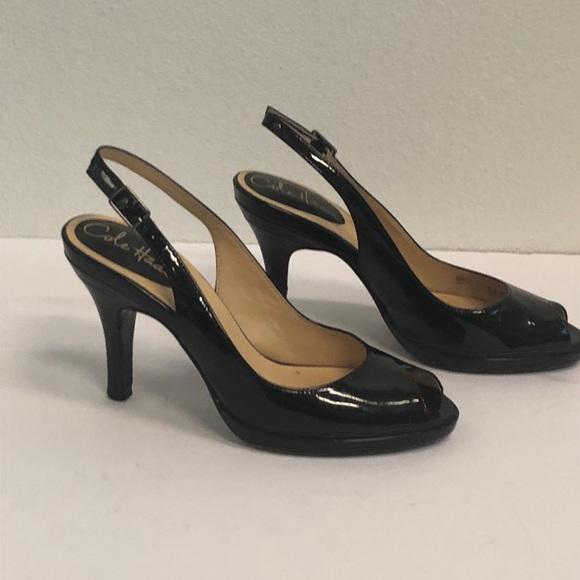 2ac1ec5aae20 Cole Haan Shoes - ⬇️COLE HAAN Nike Air Slingback Peep Toe Heels 5